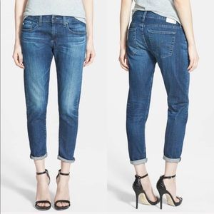 • AG • Nikki Relaxed Skinny Crop Jean 4 Years Tide